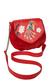 Фото 1 Кожаная женская сумка №31 Японская птичка, красная в интернет-магазине Unique U дизайнера Елены Юдкевич