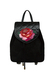 Фото 2 Кожаный женский рюкзак №47 Роза, чёрный в интернет-магазине Unique U дизайнера Елены Юдкевич