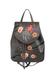 Фото 3 Кожаный женский рюкзак №47 Японские птички, серый в интернет-магазине Unique U дизайнера Елены Юдкевич