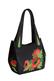Кожаная сумка №33 Маки, бежевая