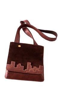 Фото 1 Кожаная мужская сумка №20 ночной город, коричневая в интернет-магазине Unique U дизайнера Елены Юдкевич
