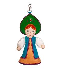 Кожаный брелок ручной работы Царевна в интернет-магазине Unique U