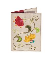 Обложка на паспорт Вальс цветов, кремовая