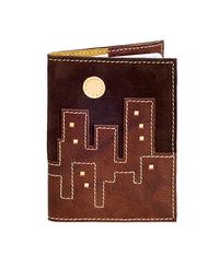 Обложка на паспорт Ночной город, коричневая