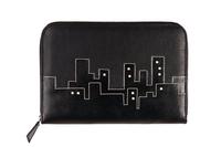 Холдер кожаный Ночной город, черный в интернет-магазине Unique U