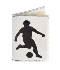 Обложка на паспорт Футболист, черно-белая