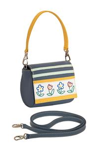 Фото 1 Кожаная сумка №29,крошки-цветочки в Интернет-магазине UNIQUE U