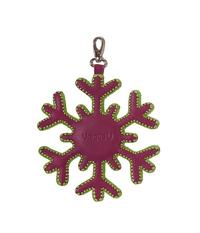 Брелок кожаный Снежинка, фиолетово-зеленая в Интернет-магазине UNIQUE U