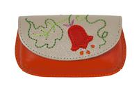 Вальс цветов,оранжевая ключница дизайнерская кожаная в Интернет-магазине UNIQUE U дизайнера Елены Юдкевич.