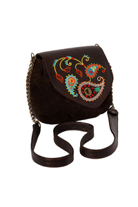 Кожаная сумка №31 коричневая