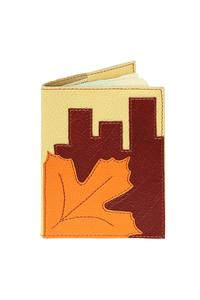 Кожаная обложка на паспорт №2, Осень в городе
