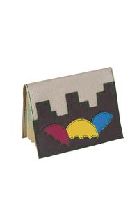 Кожаная обложка на паспорт №2, Зонтики