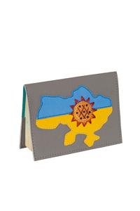 Кожаная обложка  на паспорт №1, УКРАИНА, ПОДСОЛНУХ