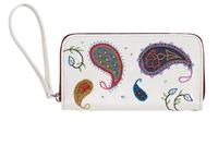 Фото 1 Кожаный женский кошелек №2, Пейсли белый  в интернет-магазине Unique U