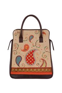 Фото 1 Кожаная женская сумка портфель №3, Пейли коричневый  в интернет-магазине Unique U