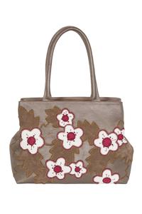 Фото 1 Кожаная женская сумка №5 Сакура, бронзовый перламутр в интернет-магазине Unique U дизайнера Елены Юдкевич