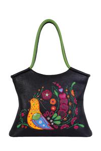 женская кожаная сумка черная м.2