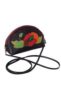 Кожаная женская сумка №45 МАК чёрная  в интернет-магазине Unique U дизайнера Елены Юдкевич Фото 1