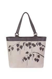 Кожаная женская сумка №42, Берёза