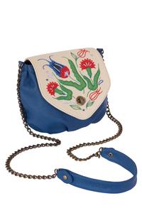 Фото 1 Кожаная женская сумка № 31, Изник синяя в Интернет-магазине UNIQUE U
