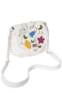 Фото 1 Кожаная сумка №31, Вальс цветов белый в Интернет-магазине UNIQUE U