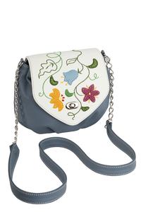 Фото 1 Кожаная сумка №31, Вальс цветов, голубой, Интернет-магазин Юник