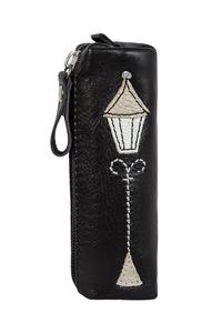 Фото 1 Кожаная ключница №2, Фонарь чёрно-серый в Интернет-магазине UNIQUE U
