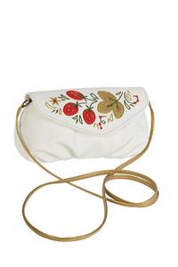 Фото 1 Кожаная сумка №34, Хохлома, белая в интернет-магазине Unique U