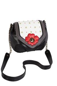 Фото 1 Кожаная сумка №31, Мак, чёрная в интернет-магазине Unique U