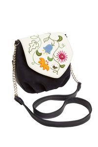 Фото 1 Кожаная женская сумка №31, Вальс цветов, синий, Интернет-магазин Юник