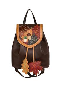 Фото 1 Кожаный женский рюкзак №47, Осень, коричневый в интернет-магазине Unique U