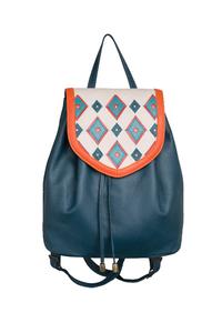 Фото 1 Кожаный женский рюкзак №47, Румба синий в интернет-магазине Unique U