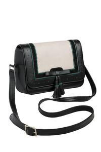 Кожаная женская сумка №48 Оксфорд чёрная  в интернет-магазине Unique U дизайнера Елены Юдкевич Фото 1