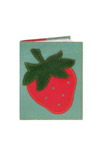 Кожаная обложка  на паспорт зеленая №1