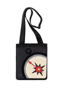 Кожаная мужская сумка №20, Компас