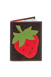 Кожаная обложка  на паспорт черная №1