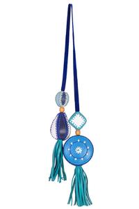 универсальная подвеска для автомобиля и сумок голубая