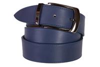 кожаный женский пояс темно-синий 3,5см
