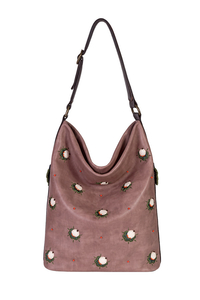 сумка кожаная цвета какао м.53