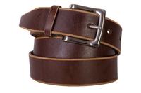 кожаный женский ремень коричневый 4см
