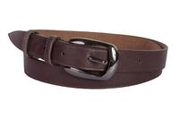 кожаный женский пояс коричневый 2,5см