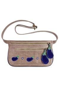 женская кожаная сумка на пояс м.56