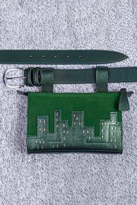 Кожаная сумка на пояс м.61
