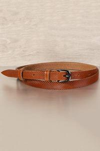 женский кожаный пояс рыже-коричневый 1,5см