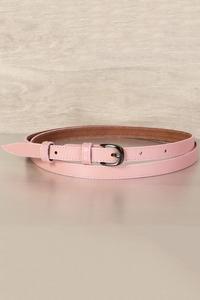 женский кожаный пояс розовая пудра 1,5см