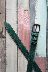 кожаный женский пояс зеленый 3см