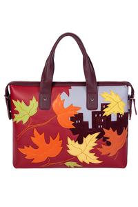 Кожаный женский портфель бордо м.50