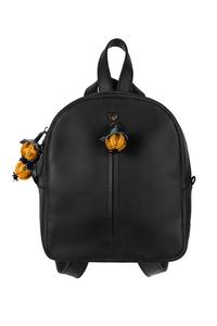 Рюкзак кожаный м.62 черный с ягодками