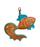 кожаный Брелок Золотая рыбка, коричневая в интернет-магазине Unique U