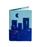 Обложка на паспорт Город, синяя